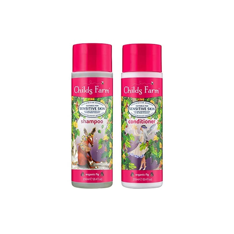 Childs Farm Shampoo and Conditioner, Organic Fig, 250 ml