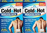 Personal Care Cold & Hot Medicated Patch 2 Large Patches Per Box (Pack of 6)