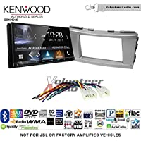 Volunteer Audio Kenwood DDX9904S Double Din Radio Install Kit with Apple CarPlay Android Auto Bluetooth Fits 2007-2011 Non Amplified Toyota Camry (Silver)