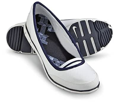 Women's Nike Ballerina Shoes White, WHITE, 8