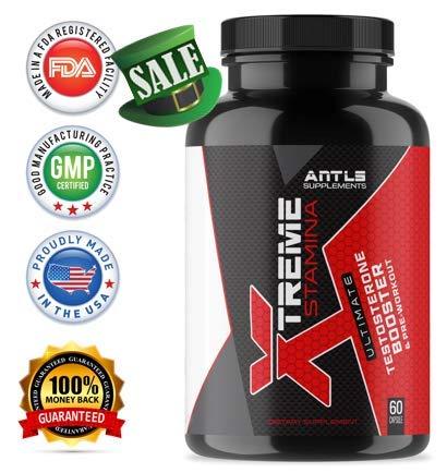 ANTLS Supplements Xtreme Stamina - Testosterone Booster for Men - Test Booster- Nitric Oxide Supplements - Pre Workout - Testosterone- Estrogen Blocker- D Aspartic Acid - Muscle Builder - HGH