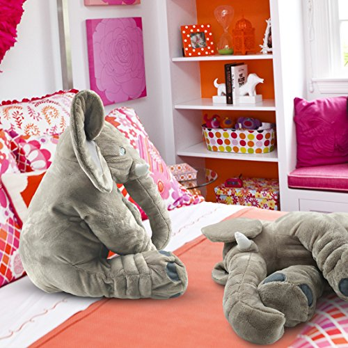 Giant-Stuffed-Elephant-Toy-Cute-Soft-Plush-Cuddly-Fabric-Great-Gift-Idea-for-Kids-Adults
