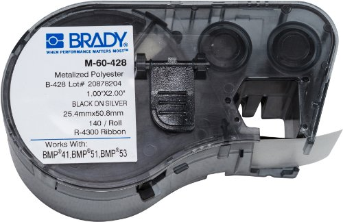 Brady M-60-428 Labels for BMP53/BMP51 Printers (Polyester Permanent Labels Metallized)