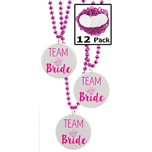 Team Bride Beads, Bachelorette Party Favors - 12 beads -