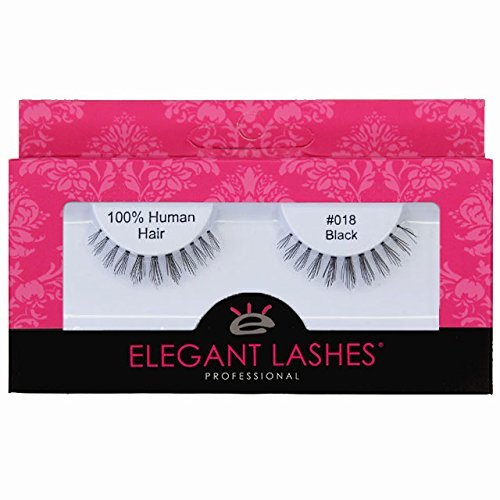 Elegant Lashes #018 Black False Eyelash | Spiky 100% Human Hair Under/Bottom/Lower Lashes for Halloween, Drag, Costume, Party for $<!--$5.99-->
