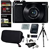 Cheap Canon PowerShot G9x Mark II Digital Camera with 3x Optical Zoom Built-in Wi-Fi LCD touch panel Black, Sandisk 32GB Memory Card, Ritz Gear Photo Pack, Polaroid Tripod, Cleaning Kit and Accessory Bundle