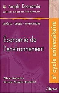 Economie de l'environnement (amphi) par Olivier Beaumais