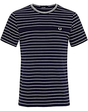 Men's Jersey and Pique Stripe T-Shirt