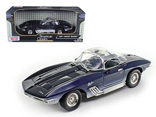 1961 Chevrolet Corvette Mako Shark Blue 1/18 Car Model Motormax