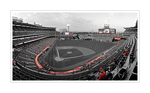 Los Angeles - Angel Stadium - Touch of Color Baseball Ballparks - 24x14 Matte Poster Print Wall Art TOC