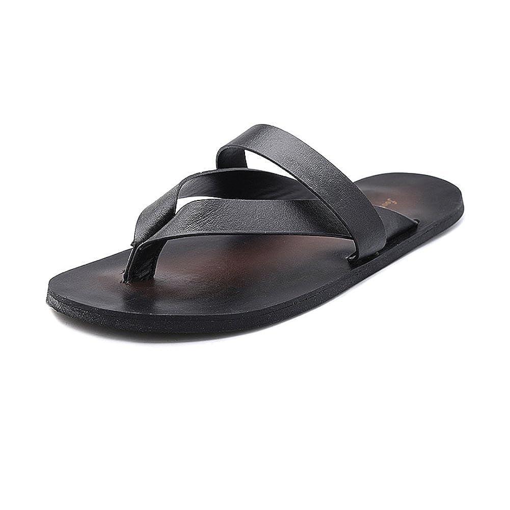 LYZGF Männer Jugend Casual Hausschuhe Rutschfeste Füße Mode Strand Open-Toe Hausschuhe Casual schwarz e808e5