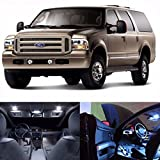 LED White Lights Interior Package Kit For Ford Excursion 2000-2005 (14 Bulbs)