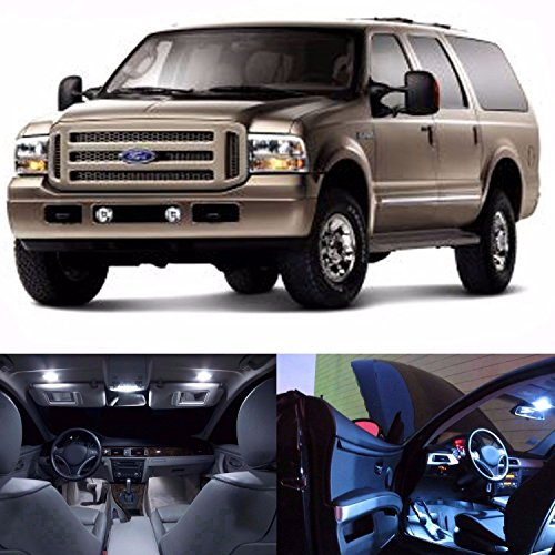 LED White Lights Interior Package Kit For Ford Excursion 2000-2005 (14 (Ford Excursion Interior)