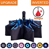 Fidus Inverted Reverse Sun&Rain Car Umbrella Large Windproof Travel UV Umbrella for Women