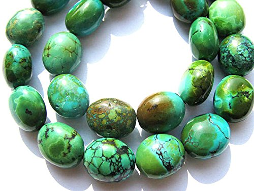 A+ 13X18mm Natural Turquoise Gemstone,blue\green\rainbow egg olive Nuggets Freeform Turquoise Beads necklace