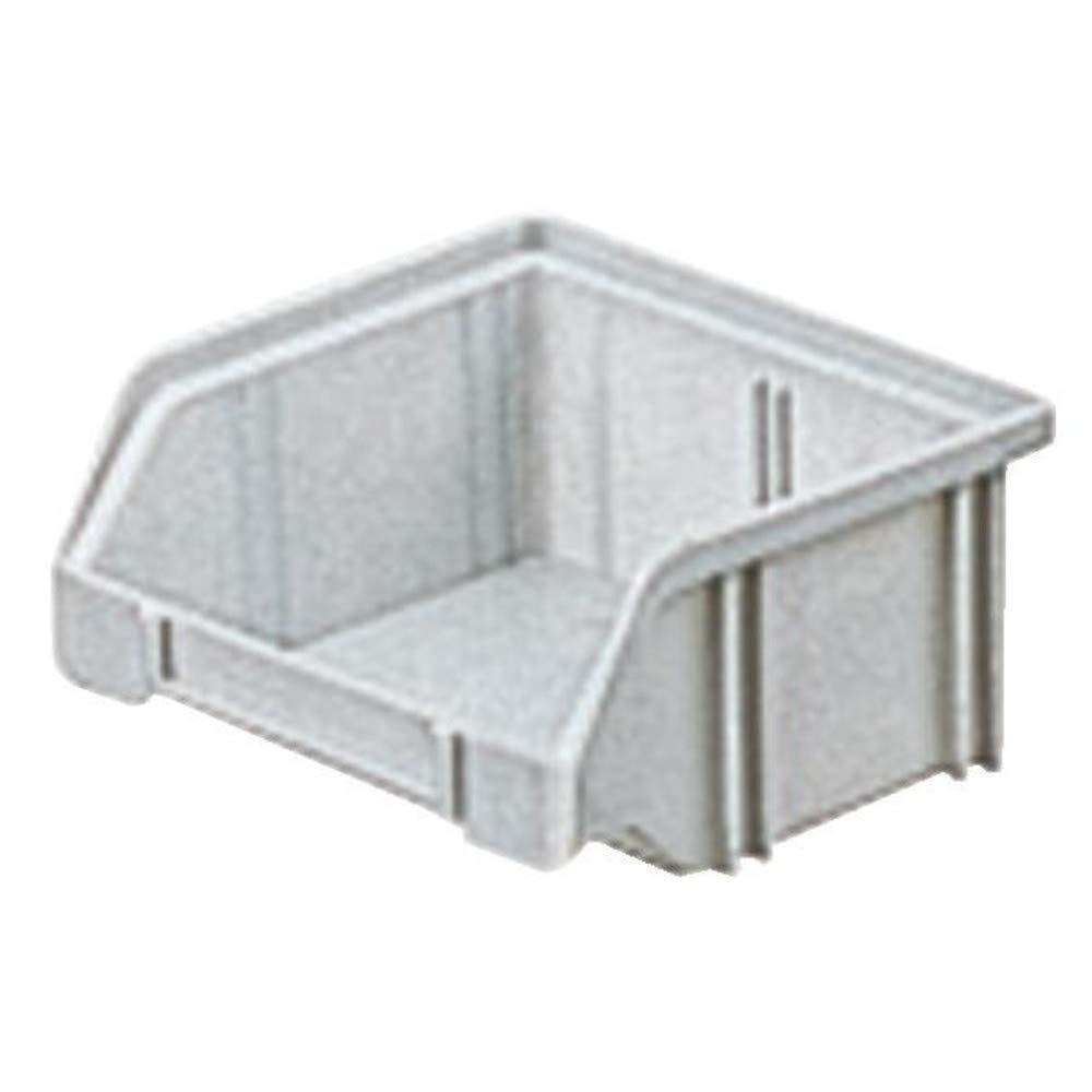 Bacs à bec, empilables, en polystyrène incassable, Taille : 5, Dimensions 85/65 x 105 x 45 mm, Couleur gris en polystyrène incassable LA KA PE