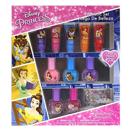 - Disney Princess Girls Nail Polish and Lip Gloss Dress Up Beauty Gift Set 11pc