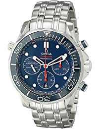 Men's 21230445003001 Diver 300 M Co-Axial Chronograph Sliver Watch