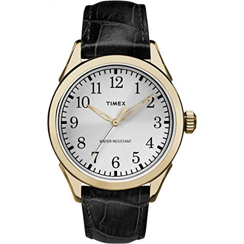 Croco Embossed Strap Watch (Timex Men's TW2P99600 Briarwood Terrace Black Croco Pattern Leather Strap Watch)
