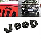 jeep cherokee hood decal - Hanway 3D Sticker jeep Front Bonnet Emblem Boot Words jeep Head Hood Logo Sticker Wrangler Grand Cherokee Liberty Compass (black)
