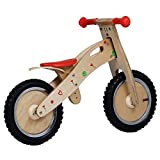 Labebe Kid's Training Bike, Indian Wood Balance Bike Adjustable Seat, Balance Bike Kid Aged 18 Month-3 Year, Bike Training/Running Bike/Balance Bike Girl/Toddler Balance Bike Boy