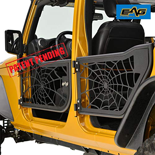 EAG 07-18 Jeep Wrangler JK (4 Door Only) Tubular Spider Web Doors With Side ()