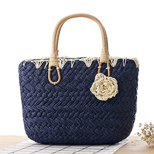 Marine Cabas TOYIS straw femme Bleu pour bags wEqC4xpqY