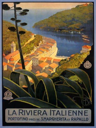 La Riviera italienne vintage voyage italien vii096 Art Imprimer A4 A3 A2 A1