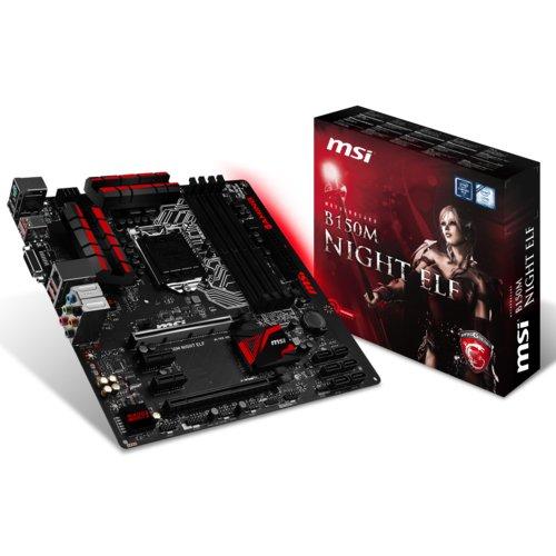 MSI B150M NIGHT ELF 007978-001R Mainboard (Micro ATX, 4x DDR4, 64GB)