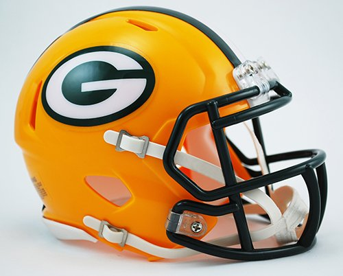 Green Bay Packers Riddell Speed Mini Football Helmet - New in Riddell Box
