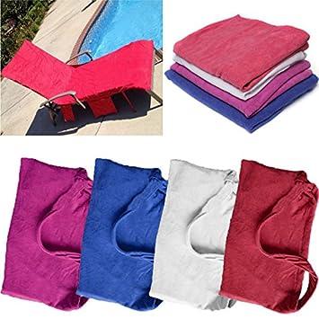 Paleo Toalla de playa microfibra salón silla con vacaciones bolsillos sol toallas de secado rápidos: Amazon.es: Hogar