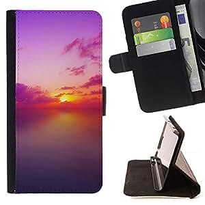Momo Phone Case / Flip Funda de Cuero Case Cover - Sunset Beautiful Nature 82 - Samsung Galaxy A5 ( A5000 ) 2014 Version