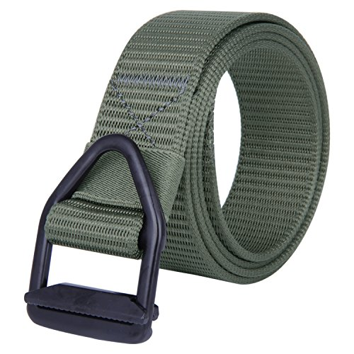 JINIU Canvas Nylon Military Style Tactical Adjustable Belt Army Tactical Webbing belt Green Color - Good Uk Websites Shopping