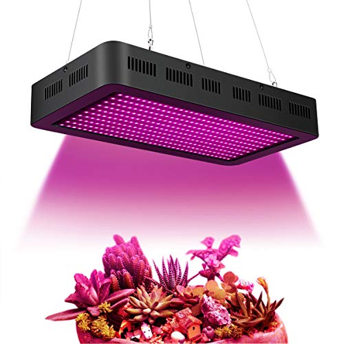 2000W LED Grow Light 380~850nm Full Spectrum Growing Light Fixtures with Red UV IR for Indoor Herbs and Plants Veg/Flowering Replace HPS Grow Light