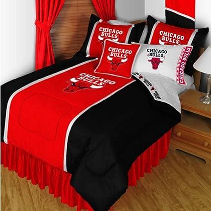 NBA Chicago Bulls Bedding Set - 5pc Comforter Sheets Full Bed