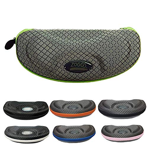 (Zoggs SUNGLASSES AND SWIM GOGGLE CASE ON AMAZON Hardcover Protective Swim Goggle and Sunglasses Carrying Case. (Silver-Green))