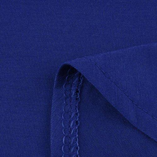 Modo Pavimento Di Vestito Della Formato Birdfly 2l Corta Da Manica Allentata Blu Più Casuale lunghezza Sexy Molla HwqFTS5x