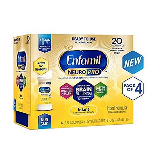 Enfamil NeuroPro Infant Formula - Brain Building Nutrition Inspired by Breast Milk - Ready to Use Liquid, 2 fl oz (24 Count) (2 Pack)