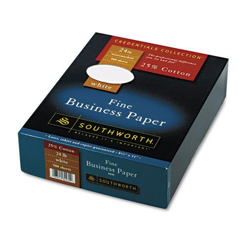 Southworth : Credentials Collection Fine Business Paper, White, 24lb, Letter, 500 Sheets -:- Sold as 2 Packs of - 1 - / - Total of 2 Each