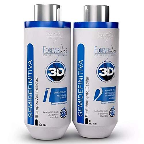 ESCOVA SEMI DEFINITIVA 3D POWER SYSTEM - Kit (shampoo+keratina)