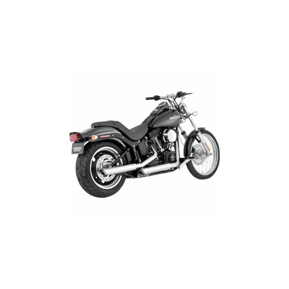 Vance & Hines Twin Slash 3 Slip Ons Chrome 16835