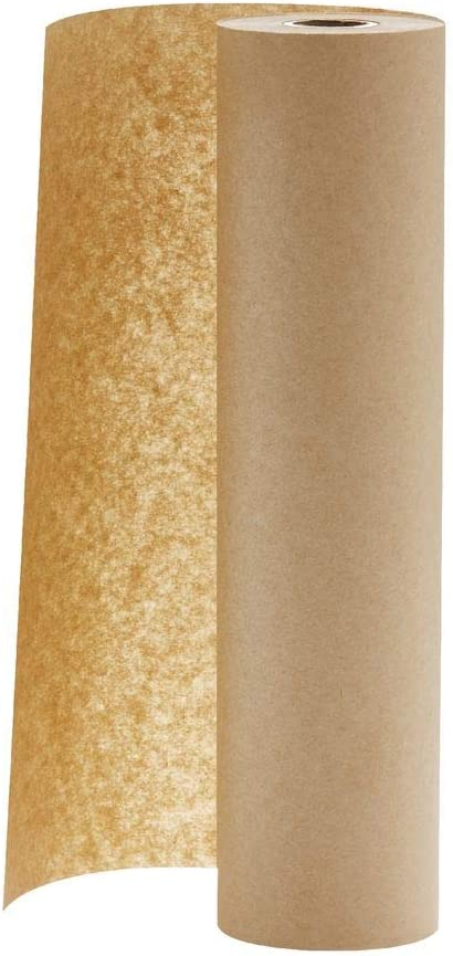 """Made in USA Butcher Kraft Paper Roll 17.75"""" x 1200"""" (100ft), FDA Approved, Ideal for BBQ Smoking Wrapping Meat of All Varieties, Table Runner, Arts and Craft Projects, Unwaxed, Uncoated, Virgin"""