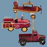 Pacific Rim Vintage Sparkling Pick-Up Truck Christmas Ornament