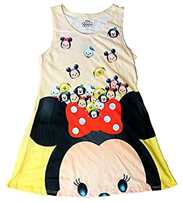 Disney Tsum Tsum Minnie Mouse & Friends Cutie Soft Girls Dress