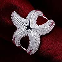 patcharin shop cute nice Silver Luxury Starfish Beautiful Fashion CUTE new Ring Jewely R538 (7)