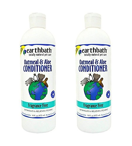 Earthbath Oatmeal and Aloe Conditioner Fragrance-Free (2 Pack), 16 oz