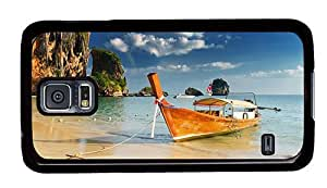 Hipster free shipping Samsung Galaxy S5 Cases beach thailand PC Black for Samsung S5