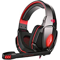 Cosmic Byte Over the Ear Headphone with Mic & LED - G4000 Edition (Red)