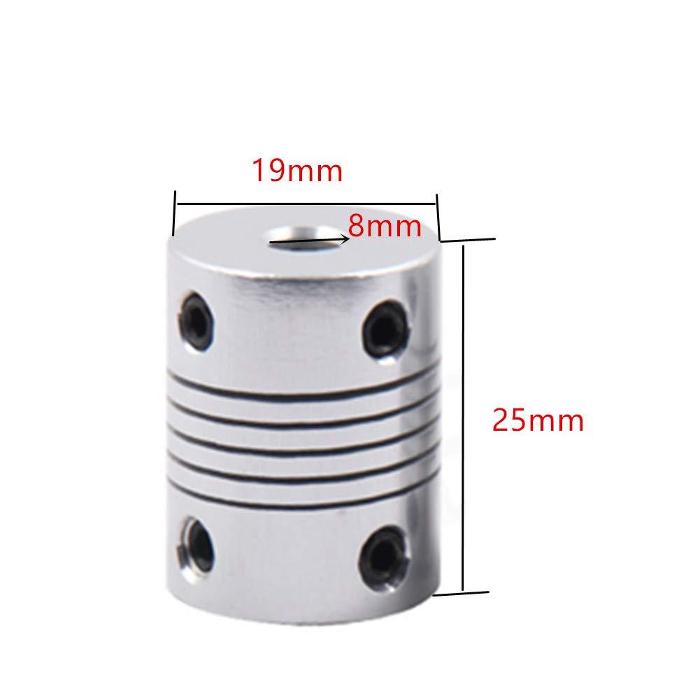 VideoPuP 3D Printer Motor Coupler Aluminum Alloy Flexible Coupler Motor Connector 6mm8mm