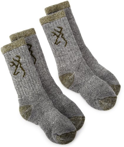 Browning Hosiery Unisex Child Kids Merino Wool Blend Sock, 2 Pair Pack...